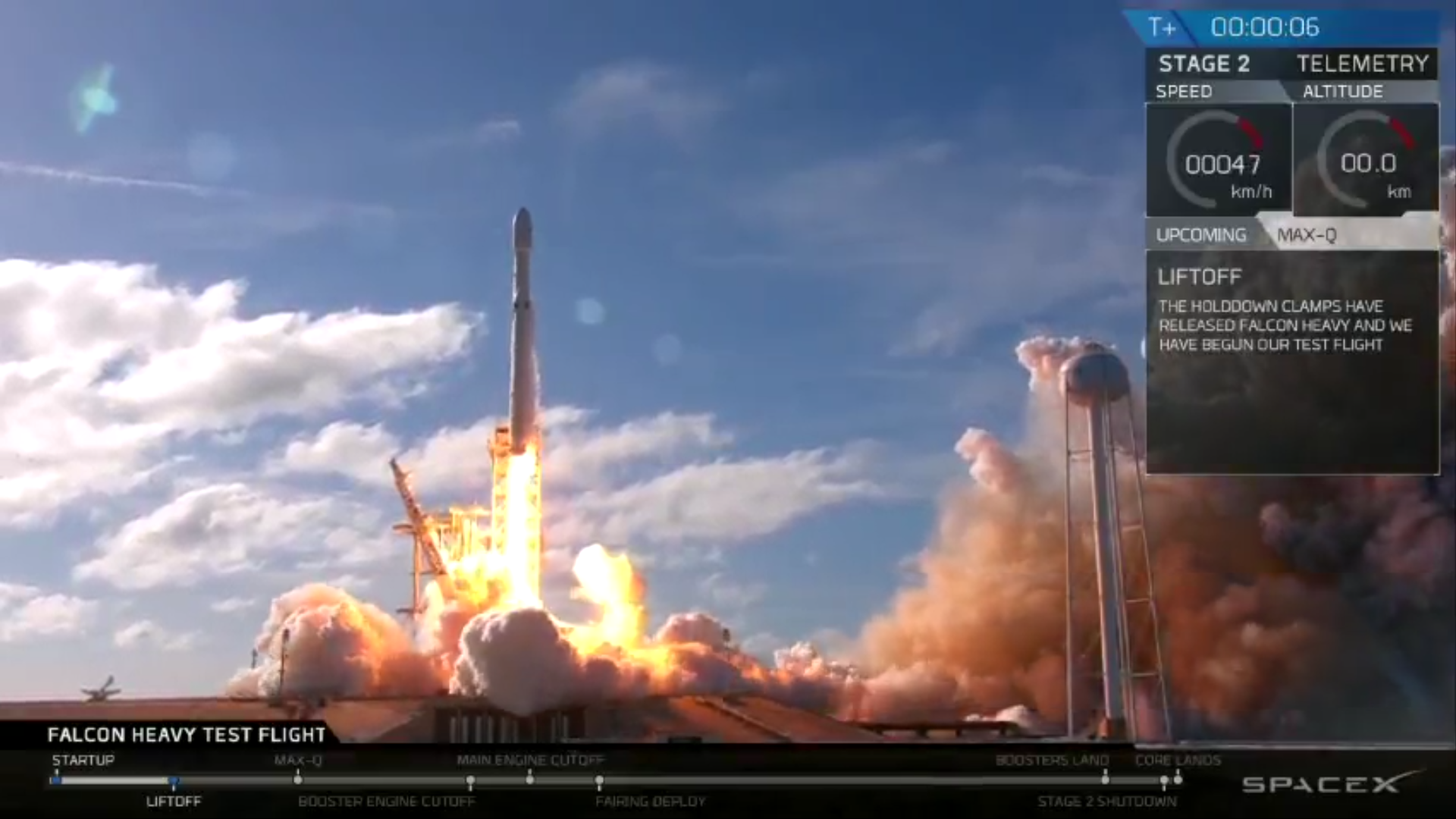 Falcon Heavy Launches
