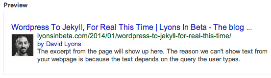 Google Authorship Preview