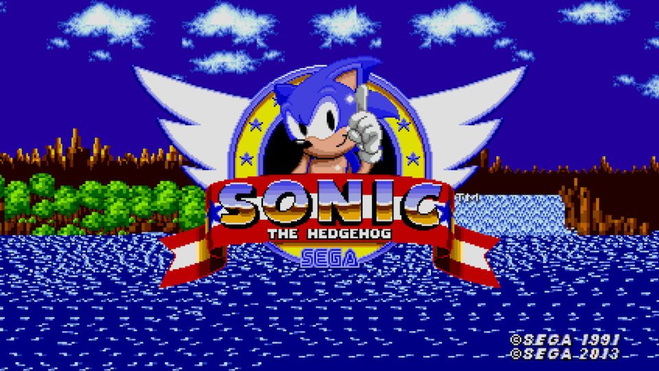 Sonic the Hedgehog actual title screen